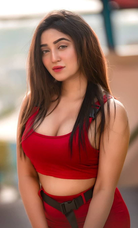 Bengali Sexy Girl in Red Dress | Bengali Fashion Girl